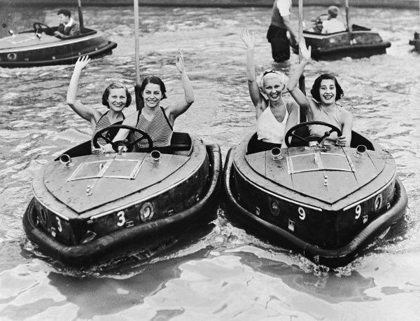 Electric motor boats at Dreamland Amusement Park, Margate, Kent