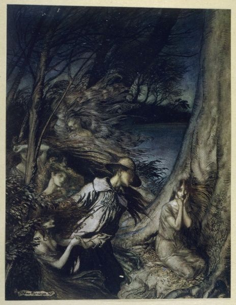 Andrew King and the Fairy Wife - illustration to a story by Maurice Hewlett