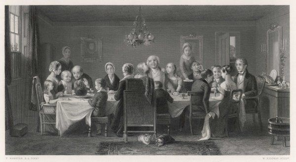 'The Christmas Pudding' All the family gathers together for Christmas dinner, they all wait for a piece of the pudding