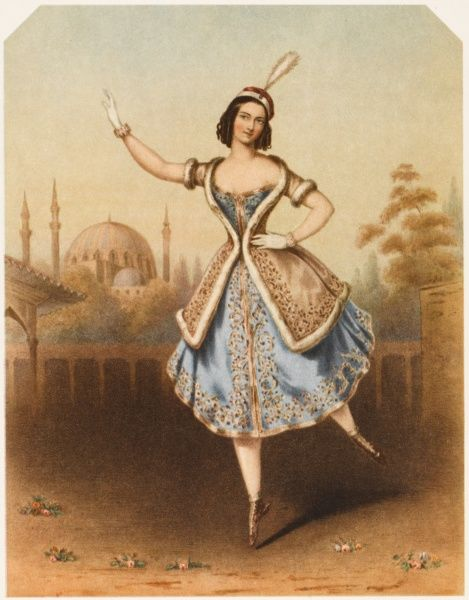 FANNY CERRITO Italian ballet dancer, seen here in 'La Lituana&#39