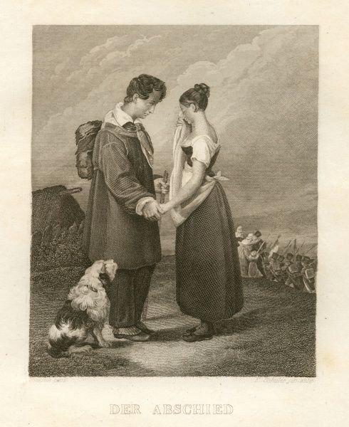 The farewell. Date: 1833
