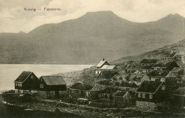 Faroe Islands, Denmark - Kvivik - a village on the west coast of Streymoy in the Faroe Islands. Excavations have shown early Viking settlements here
