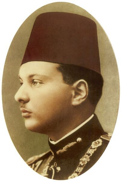 Farouk I of Egypt (1920 - 1965) - the tenth ruler from the Muhammad Ali Dynasty and the penultimate King of Egypt and Sudan, succeeding his father, Fuad I, in 1936