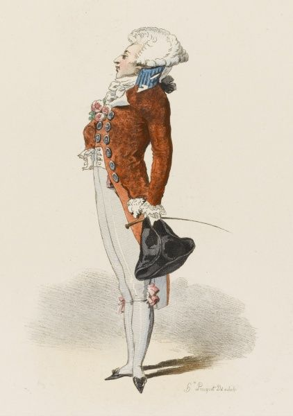 A fashionably dressed Parisian during the early phase of the Revolution