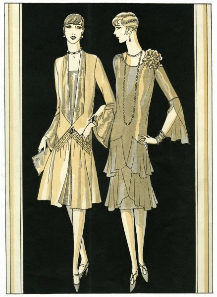 Two fashionable ladies 1926. Illustrator Anon. Date: 1926