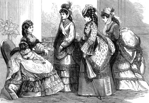 A selection of ladies fashions from the Paris designers, April 1872