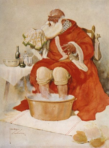 Father Christmas catches a cold