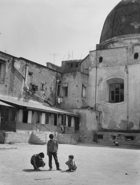 The priest Father Mario Borrelli achieved international renown with his campaigns to aid abandoned street children of Naples, Italy, where the 'Scugnizzi' or street urchins, ran wild amid the bombed buildings. Through his Casa dello Scugnizzo