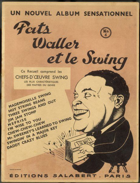 Cover for album of swing compositions featuring Fats Waller, dated 1938 to 1942