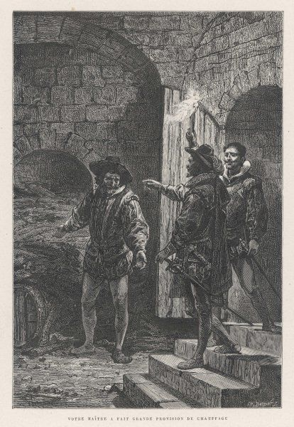 Guy Fawkes, detected by Suffolk, pretends to be a servant