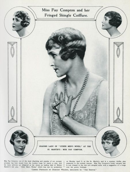 Fay Compton (1894 1978) English actress. Leading Lady of Other Men's Wifes, at the St. Martin's. Date: 1928