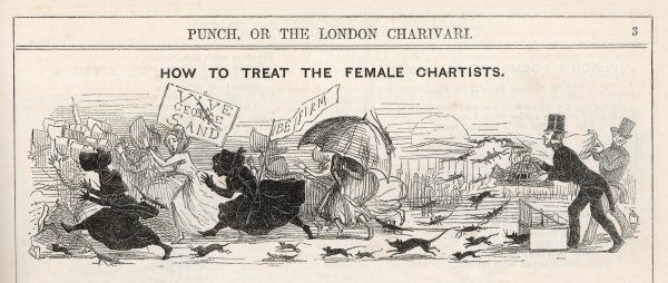 'How to treat the female Chartists' Cockroaches, rats and mice should see off the most ferocious crowd of females