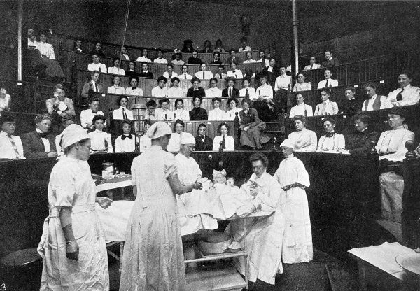 The Women's Medical College of Pennsylvania, a unique college founded by a private enterprise and directed by a committee of female doctors. Students travelled from all over the world, for a strictly women only medical education