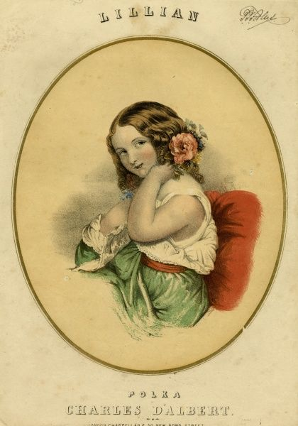 A demure young woman. Date: mid-19th century