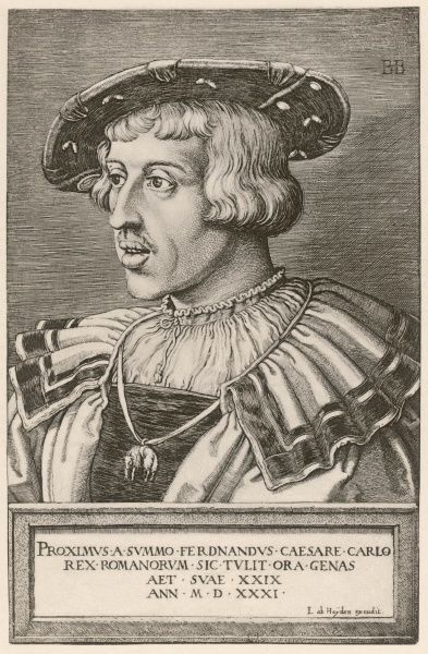 FERDINAND I Holy Roman Emperor; Archduke of Austria (reigned 1556-64)
