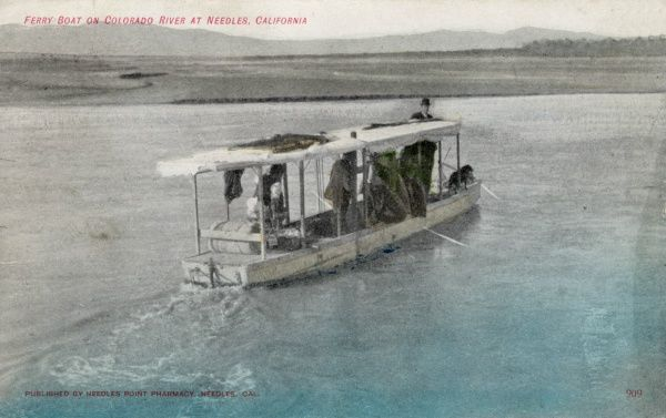 Ferry boat on the Colorado river at Needles, California