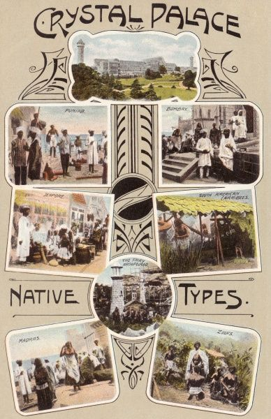 Various 'Native Types', as represented at the Festival of Empire Exhibition, held at Crystal Palace, South London. Date: 1911