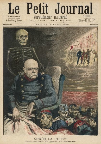 "OTTO EDUARD LEOPOLD BISMARCK French satire ""After the Fete&quot"