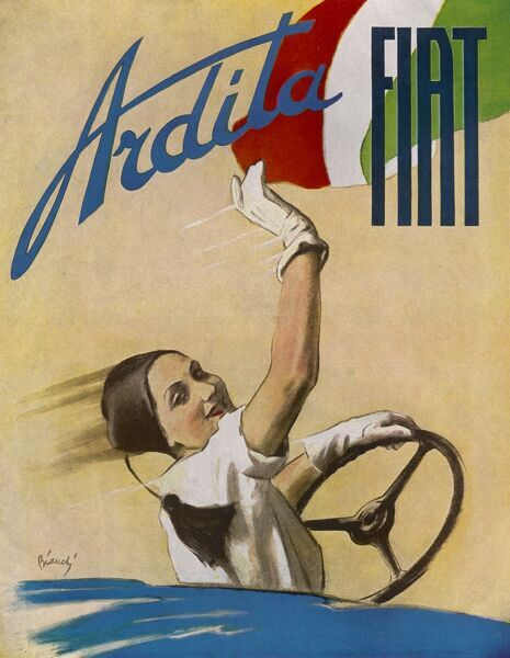 Publicity for Fiat's 'Ardita' - as you see, it has a nice well-rounded steering wheel : but does the rest of it reach this high standard ?