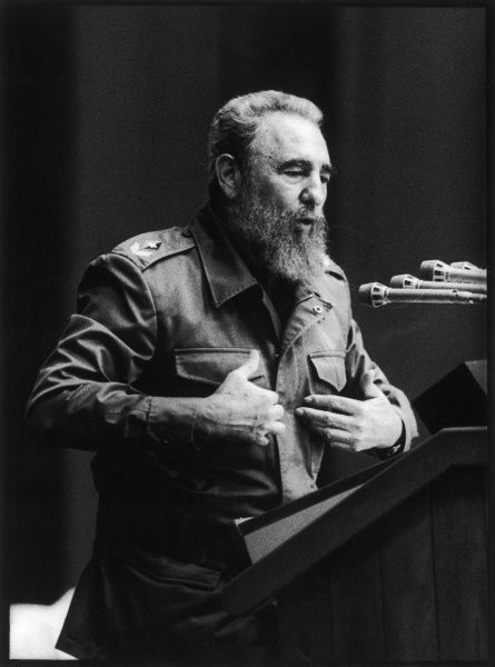FIDEL CASTRO - President of Cuba giving a speech in Havana in August 1993. *UNAVAILABLE FOR USE IN ASIA AT PRESENT*