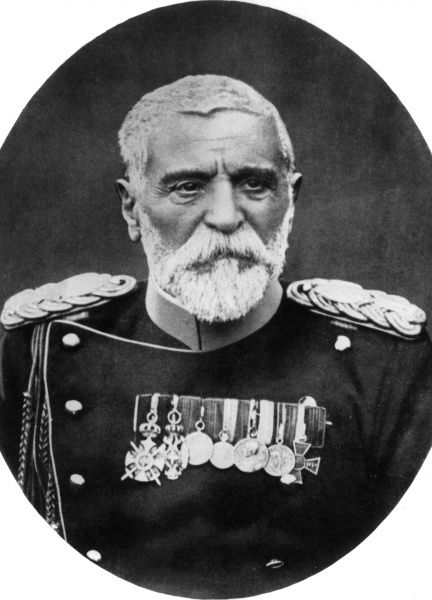Field Marshal Radomir Putnik, also known as Vojvoda Putnik (1847-1917), Serbian army officer and Chief of General Staff. He served in the Balkan Wars (from 1876 onwards) and the First World War. Seen here in dress uniform, with many medals. Date