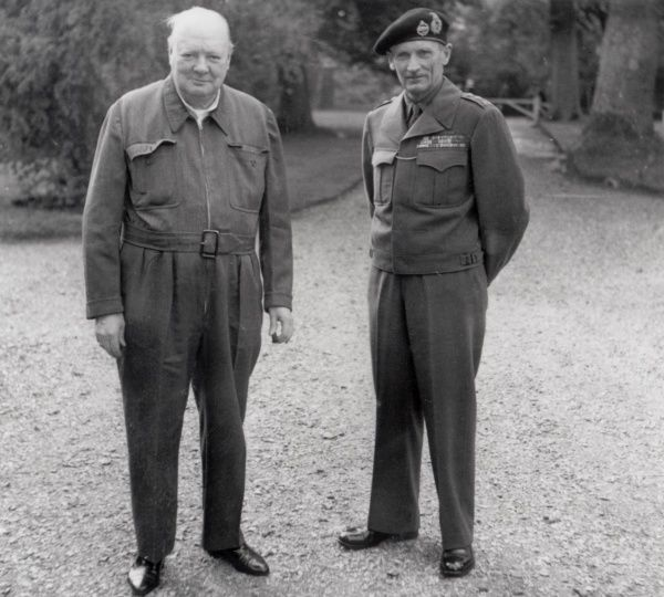 Field Marshall Montgomery and Winston Churchill