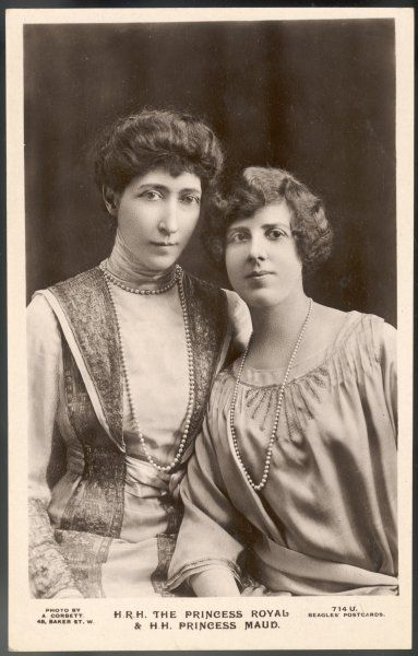 LOUISE VICTORIA DUCHESS OF FIFE Eldest daughter of Edward VII with her younger daughter Maud (Duff, later Carnegie)