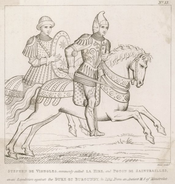 Two loyal knights in the expedition against the Burgundians - Etienne de Vignolles and Poton de Saintrailles