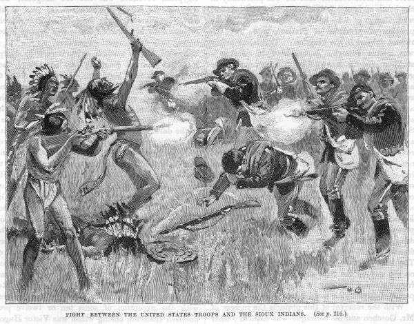 The U.S. government finds itself continually having to fight the Sioux, who fail to see that the white men's intentions are for their good
