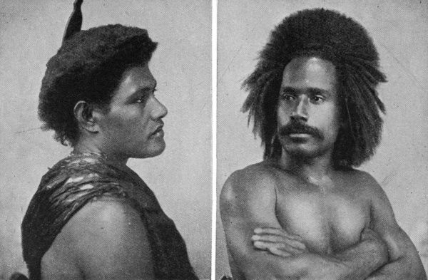 A man and woman from Fiji Date: c1900