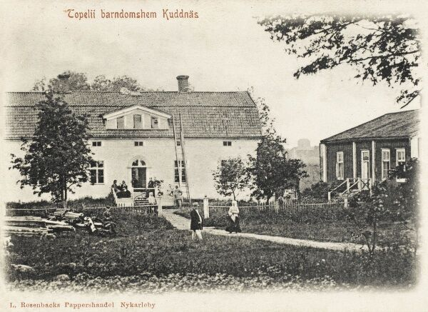 Nykarleby, Finland - Kuddnas (now a museum) - Otrobothnia Province. Finland's largest producer of Fox and Mink pelts. The building was removed from Sunby in Pedersore and re-erected in Kuddnas. Zacharias Topelius, a famous 19th century poet