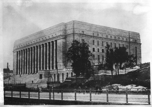 The new Houses of Parliament at Helsinki, Finland, built by the firm Borg-Siren-Aberg 1926 - 1931 and officially inaugurated on 7 March 1931