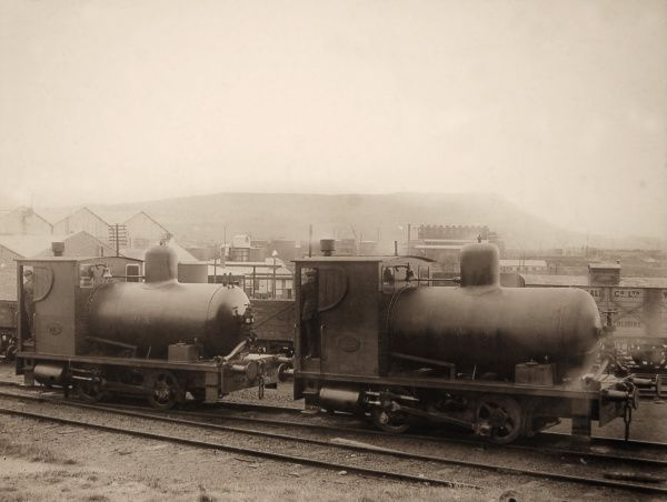 Fireless Locomotives - Llandarcy, Wales. Oil storage depots and oil handling docks used 'fireless' locomotives (steam was pumped in to a specially constructed usually dome-ended 'boiler' and the loco used this to drive conventional pistons)