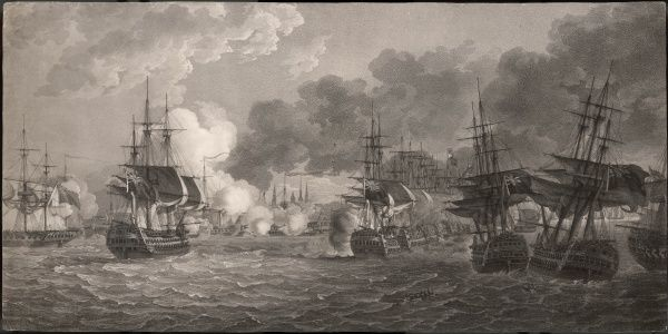 FIRST BATTLE OF COPENHAGEN British under Admirals Hyde, Parker & Nelson defeated the Danish fleet causing the dissolution of the League of Northern Powers