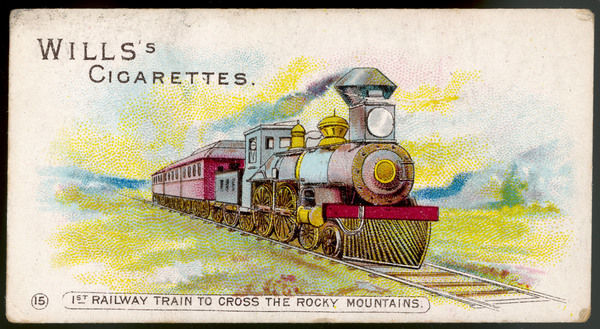 The first railway train to cross the Rocky Mountains