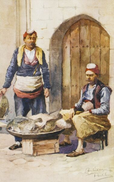 Two fish salesmen, Constantinople