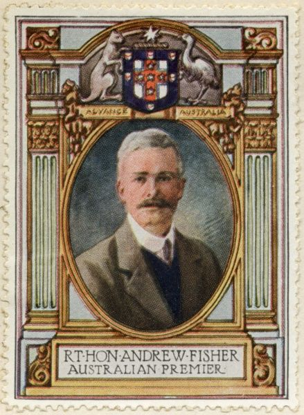 ANDREW FISHER (1862 - 1928) Australian politician who served as the fifth Prime Minister on three separate occasions
