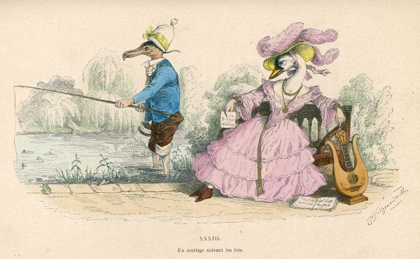 The husband fishes, his discontented wife tries to amuse herself with her music