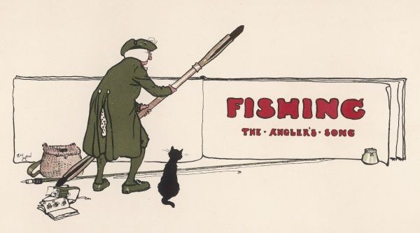 Title page of fishing section, 'The Angler's Song&#39