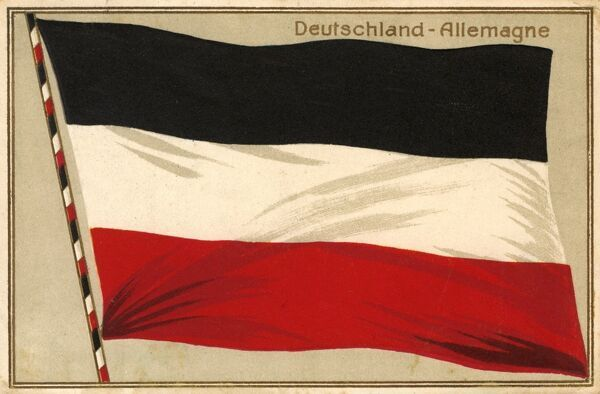 The Flag of the North German Confederation (186671) and the German Empire (18711918). Also used by Weimar Republic foreign services (192233). Date: 1913