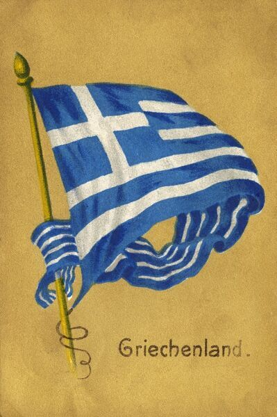 Flag of Greece Date: circa 1910s