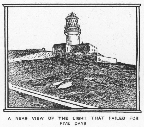 Artist's impression of the Flannan Isles lighthouse in the Outer Hebrides where three lighthouse keepers mysteriously disappeared without trace in December 1900