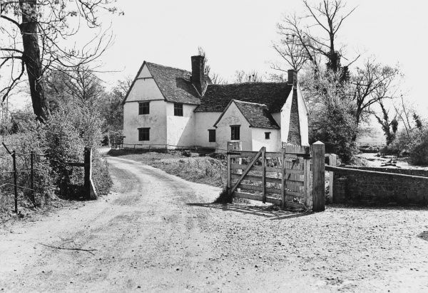 Willy Lot's cottage, Flatford, Suffolk : subject of one of Constable's paintings, and scarcely changed since then