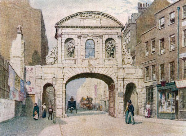 Temple Bar in Fleet Street before its removal