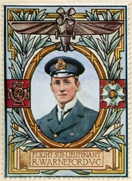 REGINALD ALEXANDER JOHN WARNEFORD, VC (1891 - 1915) Royal Naval Air Service (RNAS) officer who received the Victoria Cross, the highest and most prestigious award for gallantry in the face of the enemy that can be awarded to British and Commonwealth