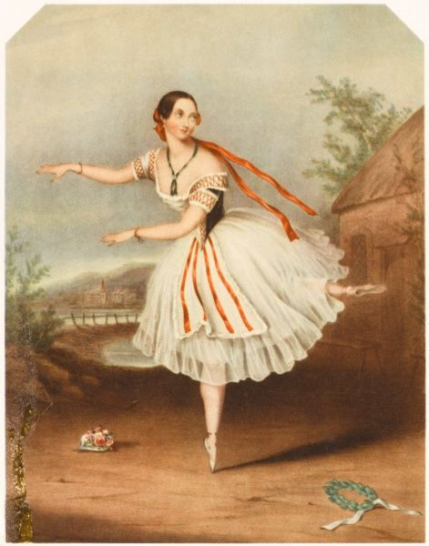 FLORA FABBRI Ballet dancer in the role of Mazourka in 'Le Diable a Quatre' in 1846