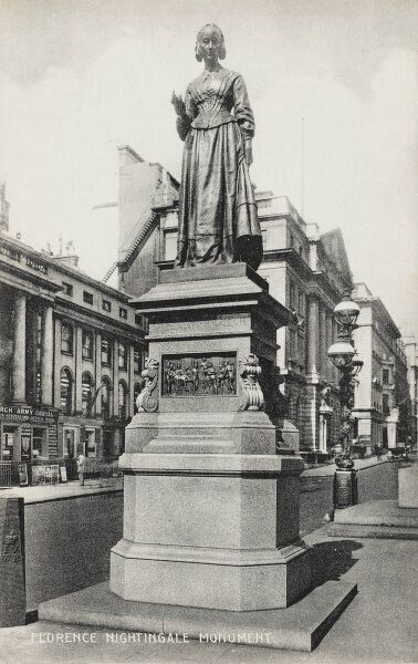 The Florence Nightingale Monument, Waterloo Place, Westminster, London (just off The Mall) - erected in memory of the famous Crimean War nurse, known as the Lady of the Lamp