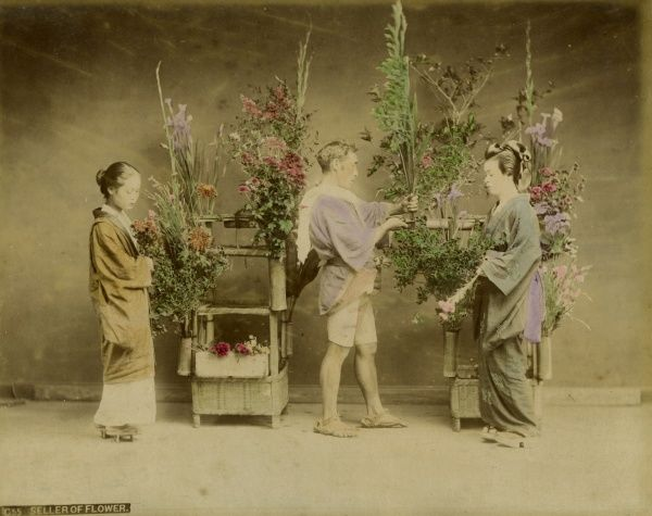 Flower seller in Japan