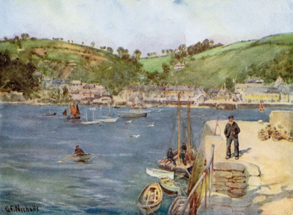Flushing, Cornwall: a view from Falmouth
