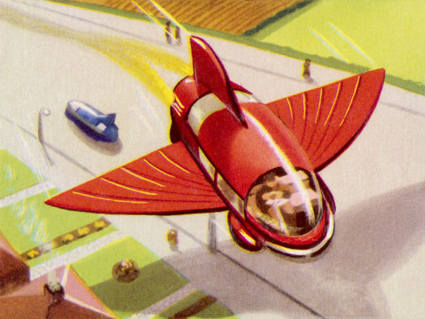 AUTOMOBILE WITH RETRACTABLE WINGS FOR THE PURPOSE OF FLIGHT